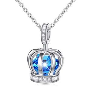 Jewelry - Sterling Silver Crown Pendant Cubic Zirconia